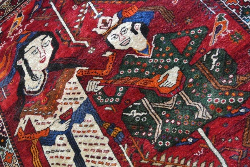 Persian Gabbeh hand made Pictorial rug Shirine-o-Farha