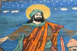 Persian rug Pictorial story YAZAMENAHOO Savier of  dear