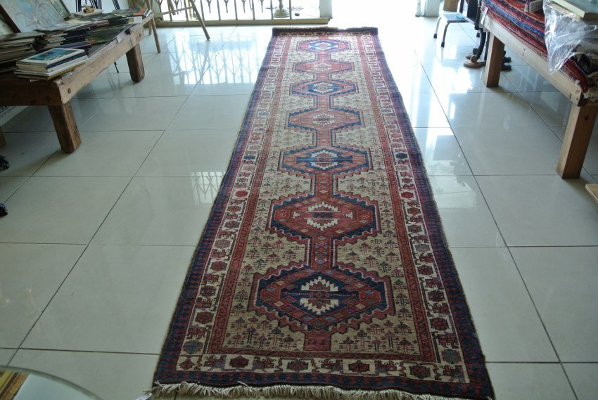 Rare Persian Haritage made of Camel wool Heriz rug