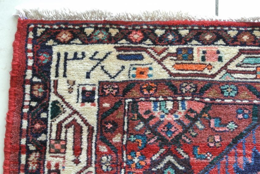 Persian Heriz hand made runner dates persian 1367