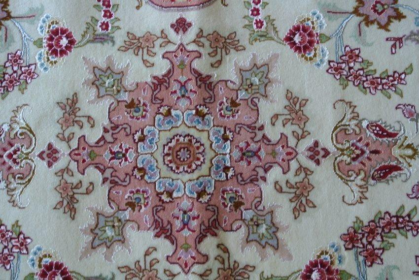 Persian rug new wool and silk runner 50 Raj