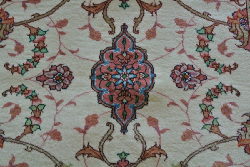 Persian rug hand made wool and silk new