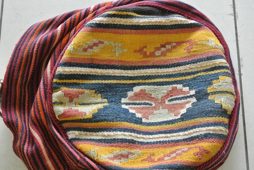 Persian carpet made to stool