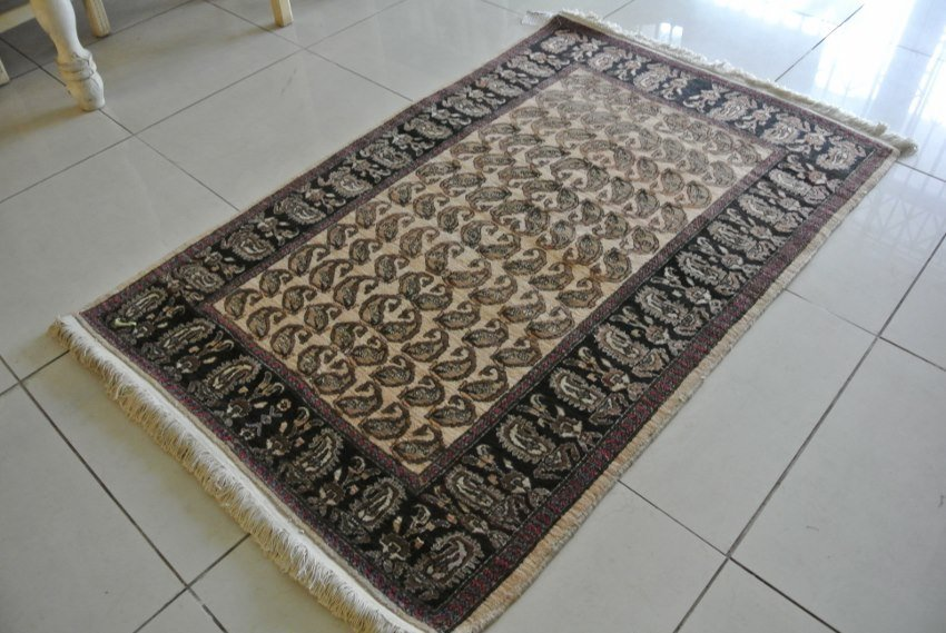 Persian carpet Bijar in all over Paisley design