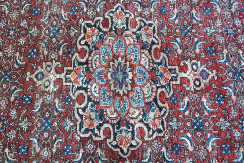 Persian carpet Bijar Halvai Medallion on Mahi