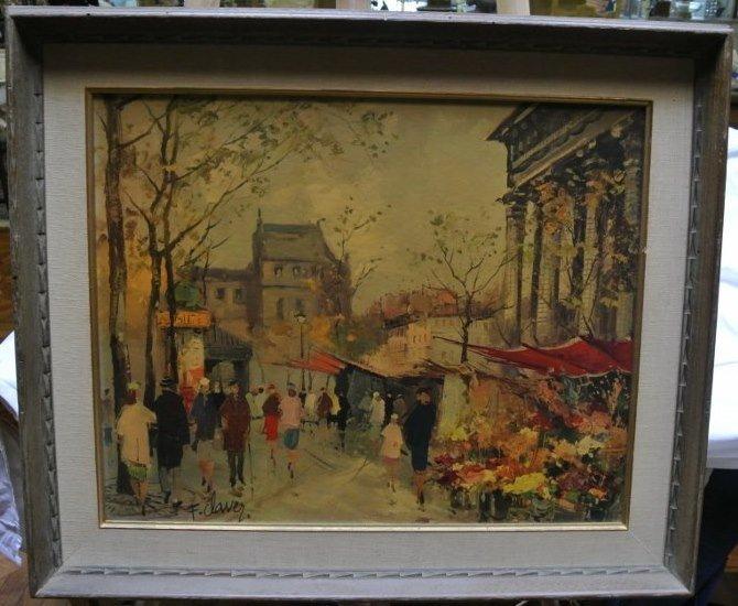 Antique Sepia print board F.Claver Paris Champs Elysee