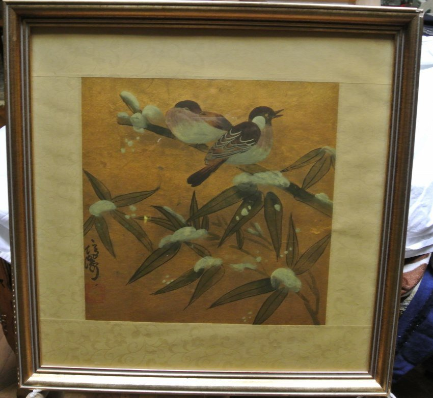 Water color on Paper painting of birds