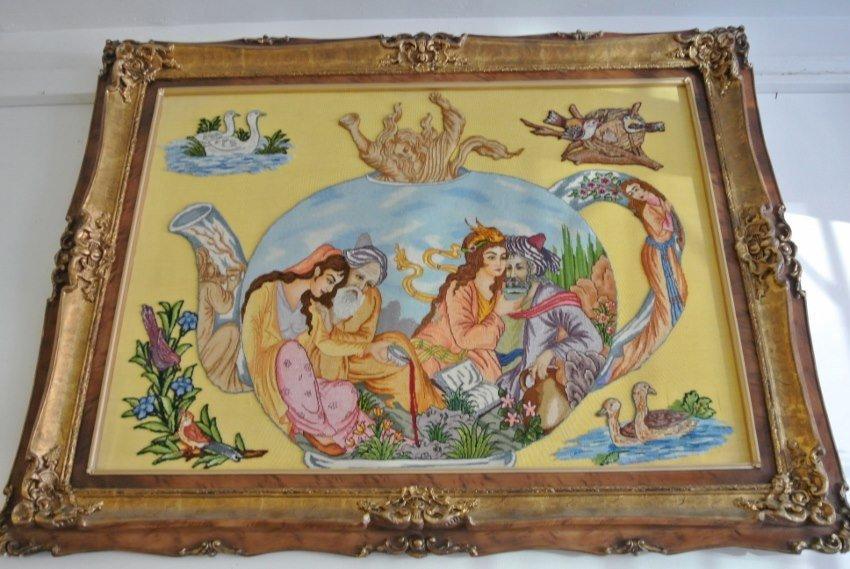 Persian pictoria tabriz rug Suff