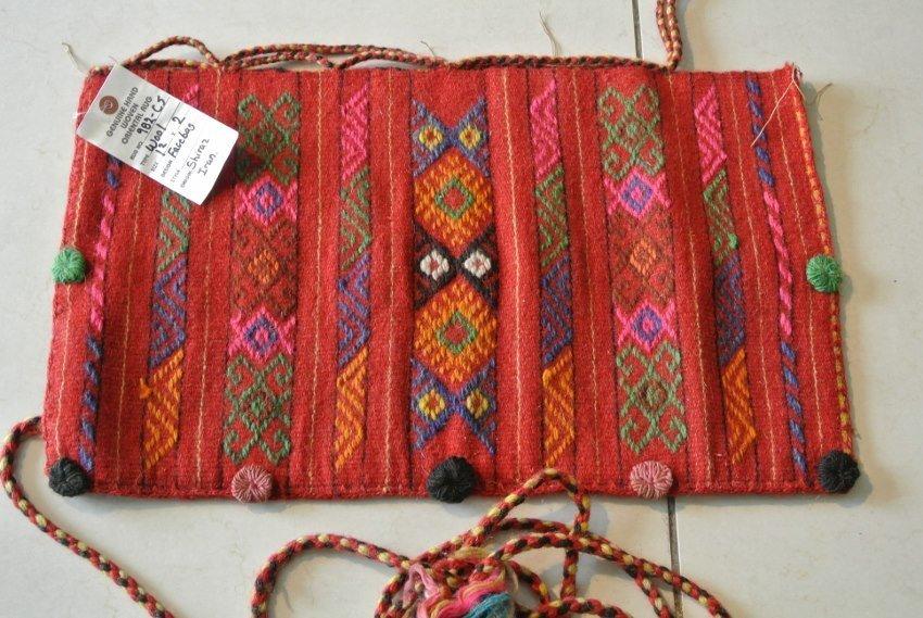 Persian  rug to salt bag Shahsavan Fashion