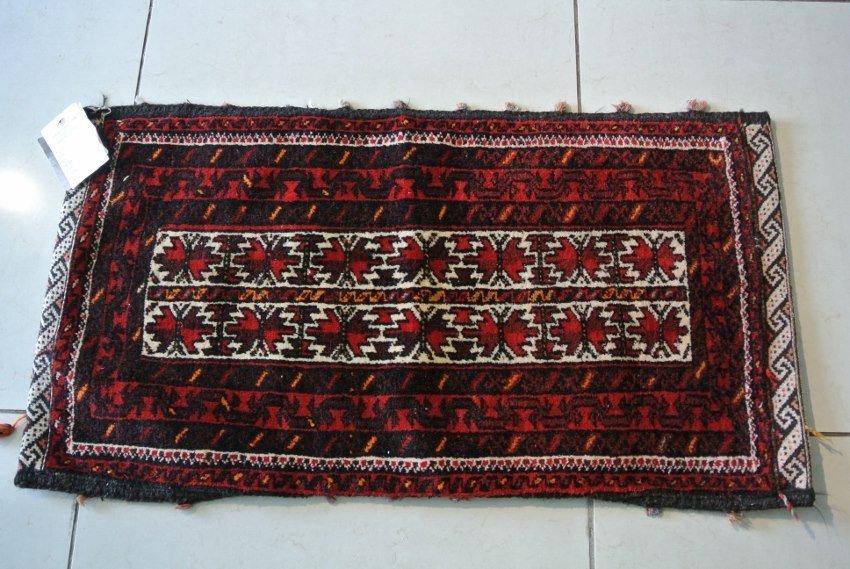 Persian rug made to seat cushen Turkmen