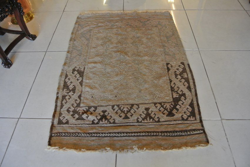 Golden Afhgan prayer rug Kilim