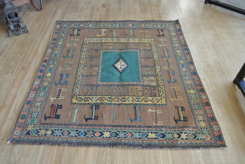 Persian carpet all wool pile and flat weave