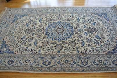 Persin rug wool and silk hand made Nain 9 La