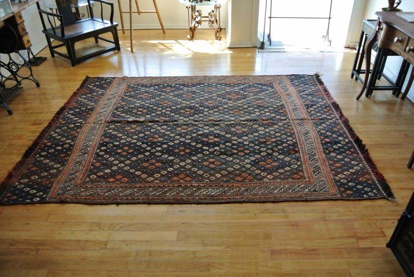 Antique Persian carpet sumack Verni  all wool Takab