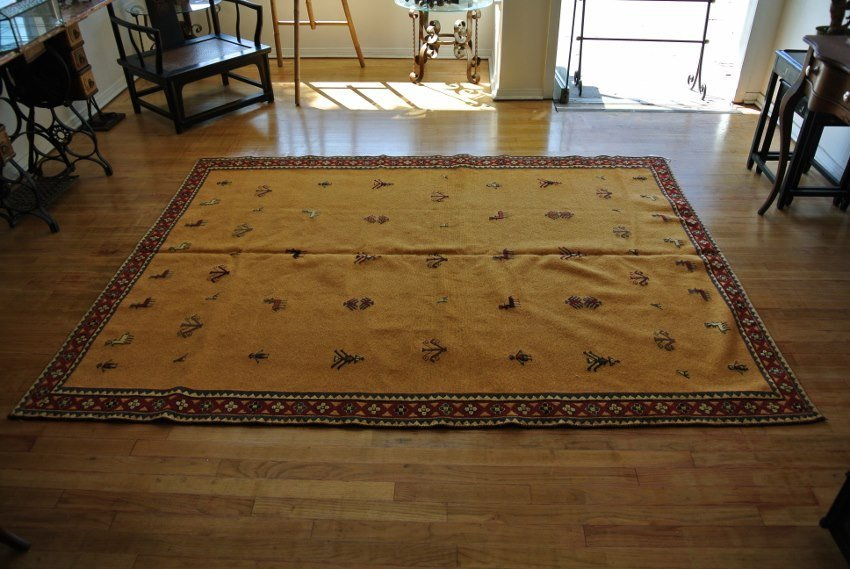 Persian rug hand made flat weave Sumack