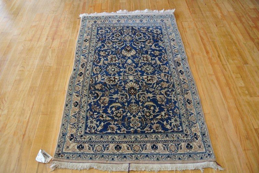 Persian rug wool and silk Nain 4 la