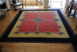 Persian rug kerman flat weave perfect square Room size