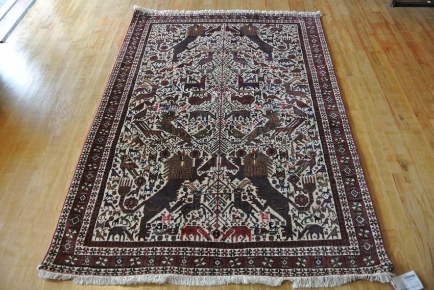 Persian HERITAGE  Antiqe carpet Afshar Lion carpet