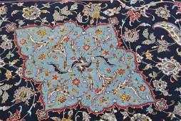 Persian carpet silk fundation Jolfa Isfahan signed Arfa