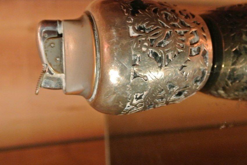 Bakelite and hand hamered silver cover lighter