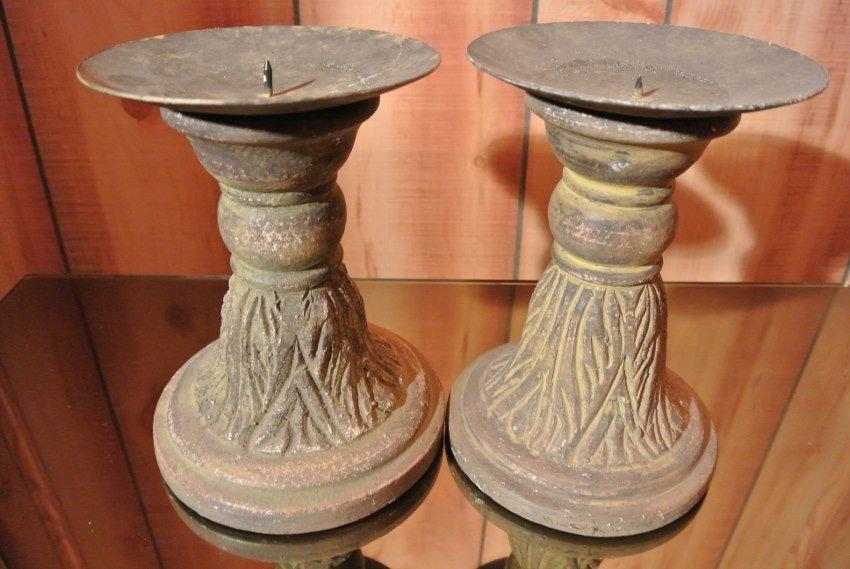Pair of Terracada candel holders