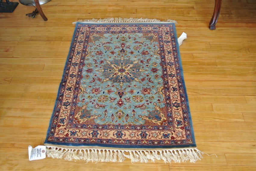 Persian carpet Isfahan wool and silk
