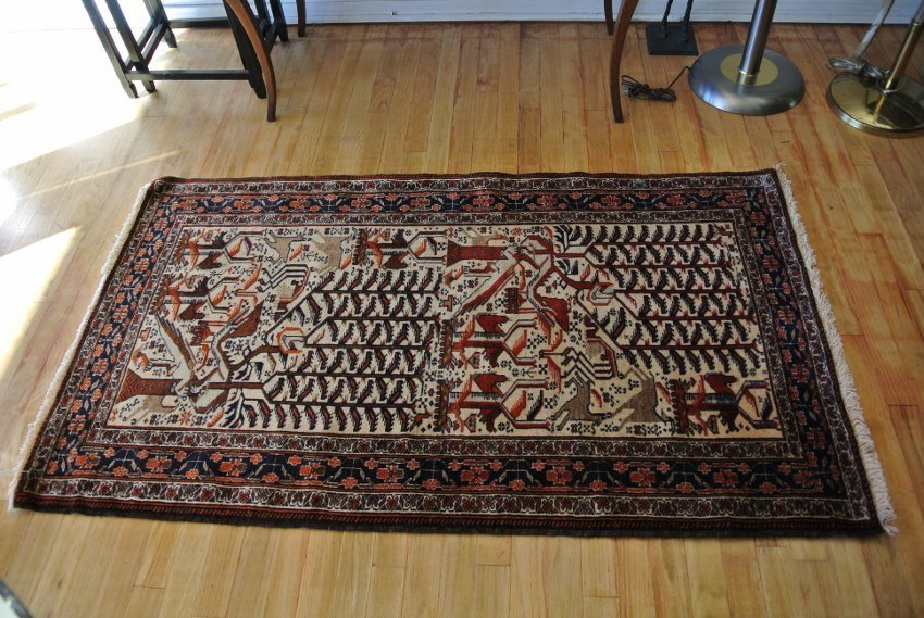 Persian carpet hand made Afshar rug