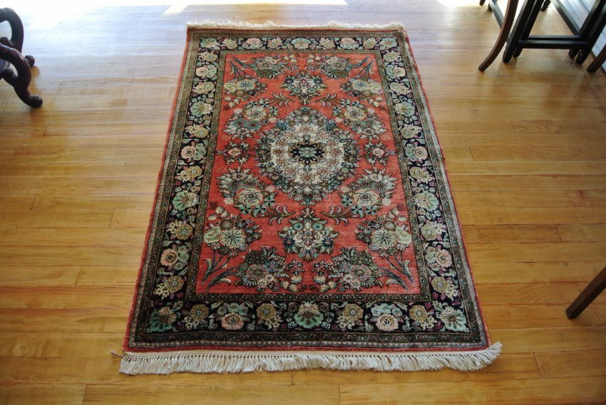 Persian rug Qum all silk  hand made