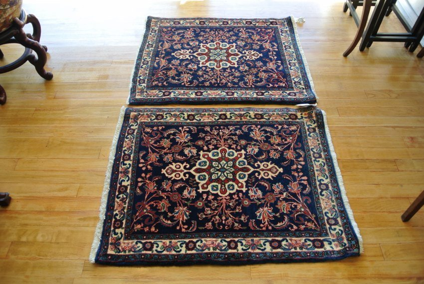 Persian carpet pair Bijar halvai