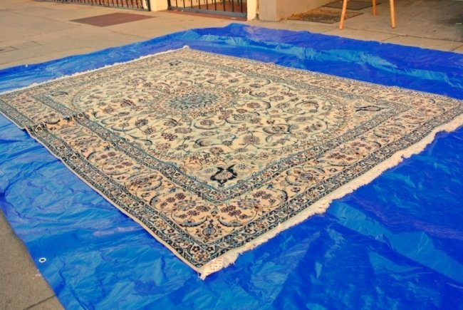 Persian rug hand made Nain Habibian 4 la wool and silk