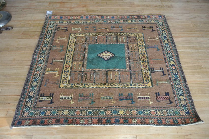 Persian carpet combination weave Sofreh Square