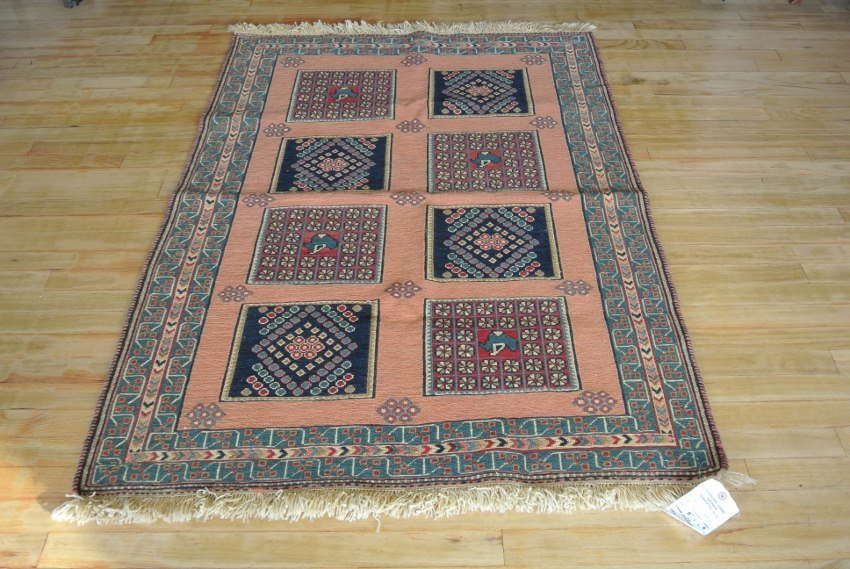 Persian rug combination weave Kerman