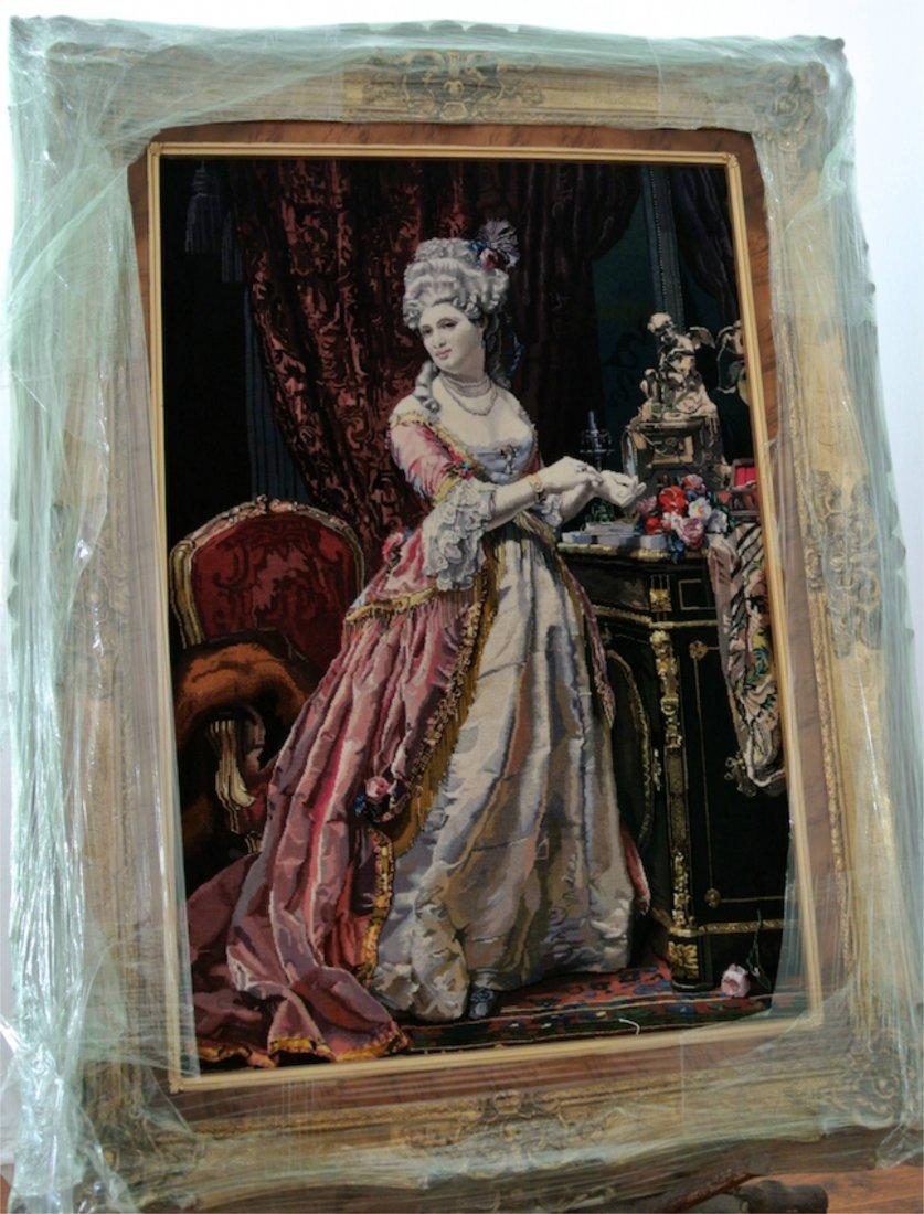 Persian Pictorial rug Queen of France Marie Antoinette