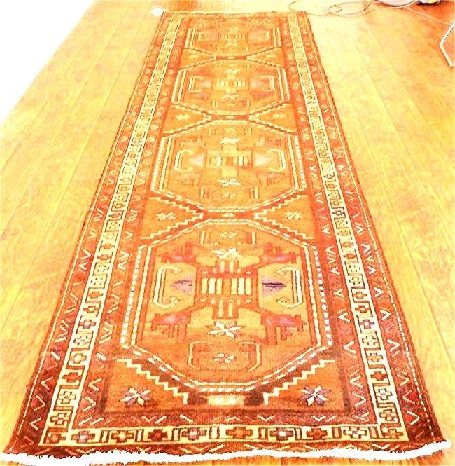 Persian rug Bold multiple medallion tobacco runner