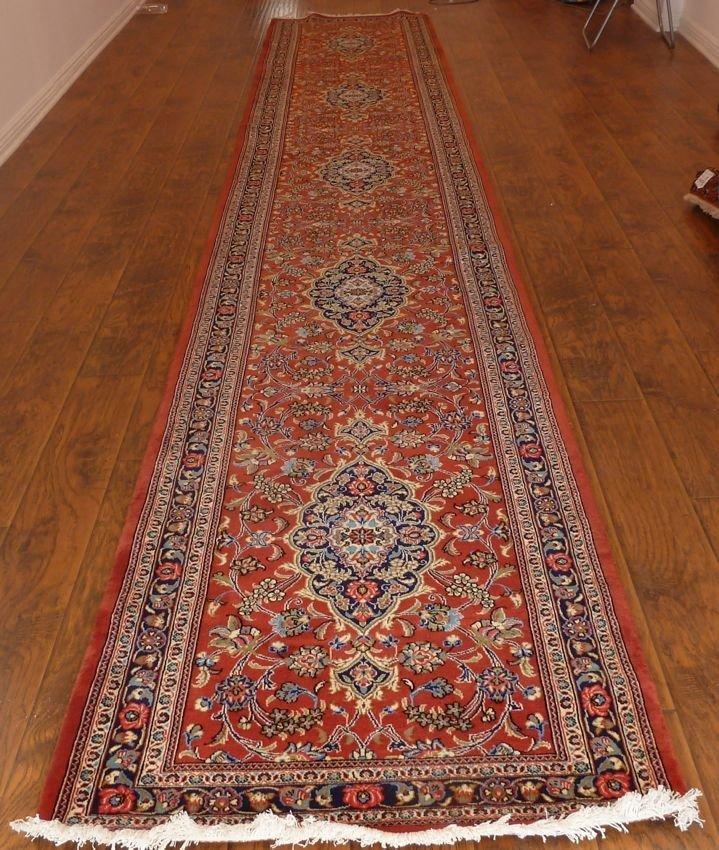 Persian rug multiple medallion Qum runner