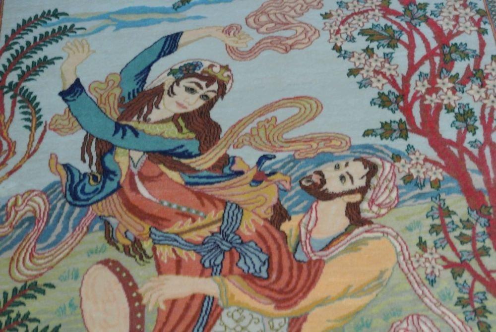 Persian carpet authentic all kurk wool Tabriz - 2