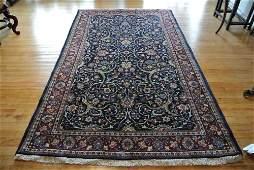 Persian carpet authentic Kashan slimy