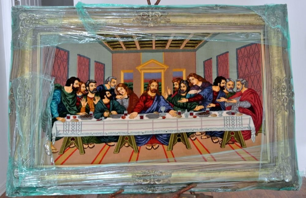 Persian pictorial rug last supper