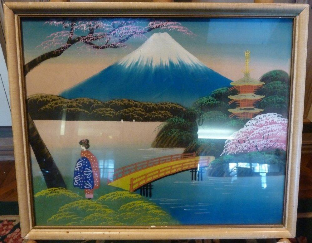 Raw silk Bongy Geisha girl Botanical Illustrations