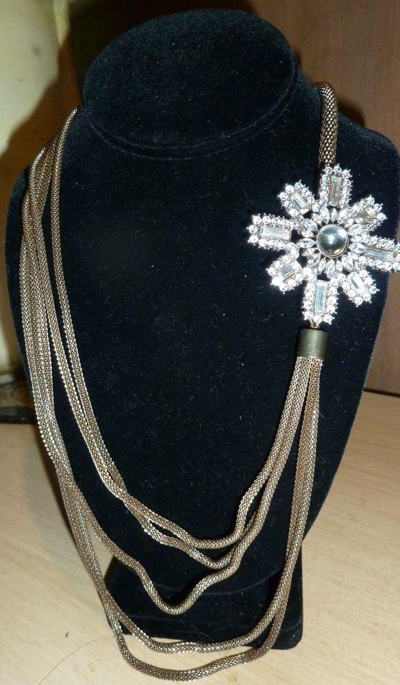 Military Star Medallion on snake chain