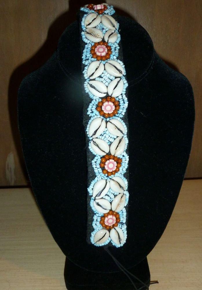 hand made natural bead choker or headband
