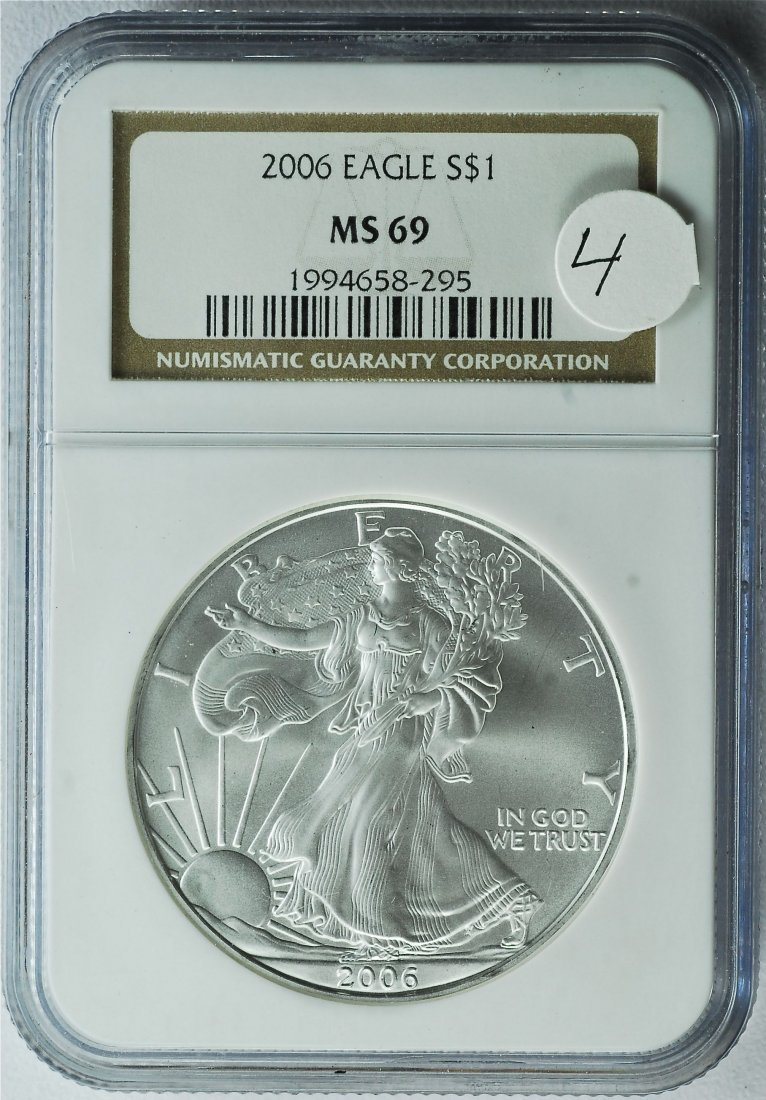 2006 American Silver Eagle MS 69 NGC