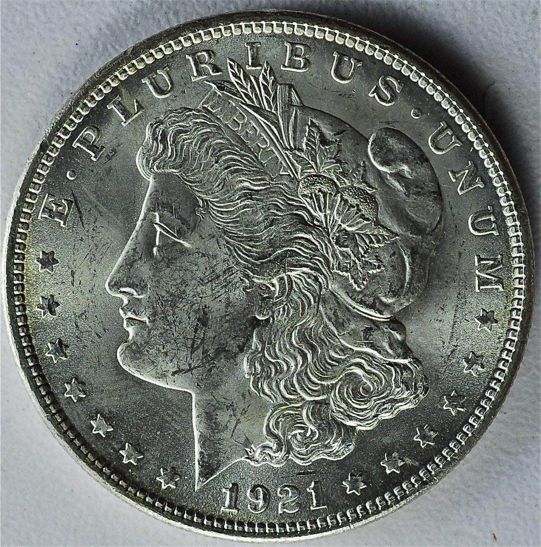 1921 Morgan Silver Dollar higher grade