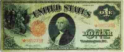 1917 * $1.00 United States Note rare