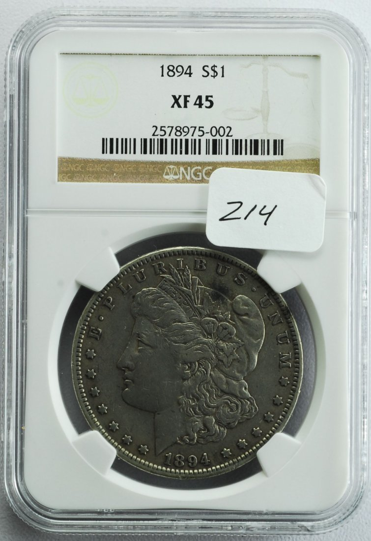1894 Morgan Silver Dollar XF-45 NGC