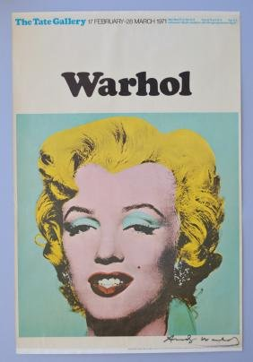 Andy Warhol Tate Gallery Poster 1971