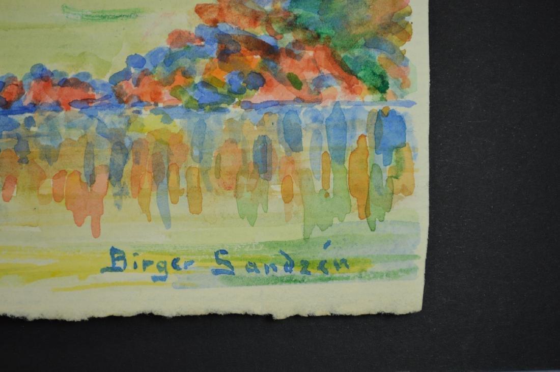 BIRGER SANDZEN ATTR WATERCOLOR ON PAPER - 3