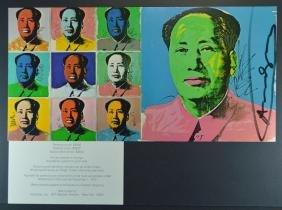 Andy Warhol Mao Signed Invitation Card 1972