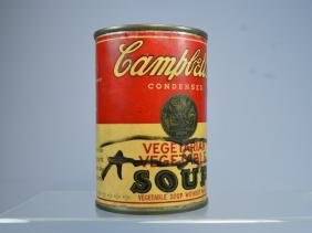 Andy Warhol Vintage Signed Soup Can Ca.1960