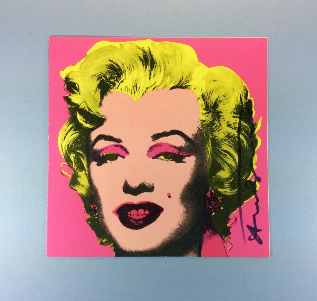 ANDY WARHOL CASTELLI INVITATION PINK MARILYN 1981